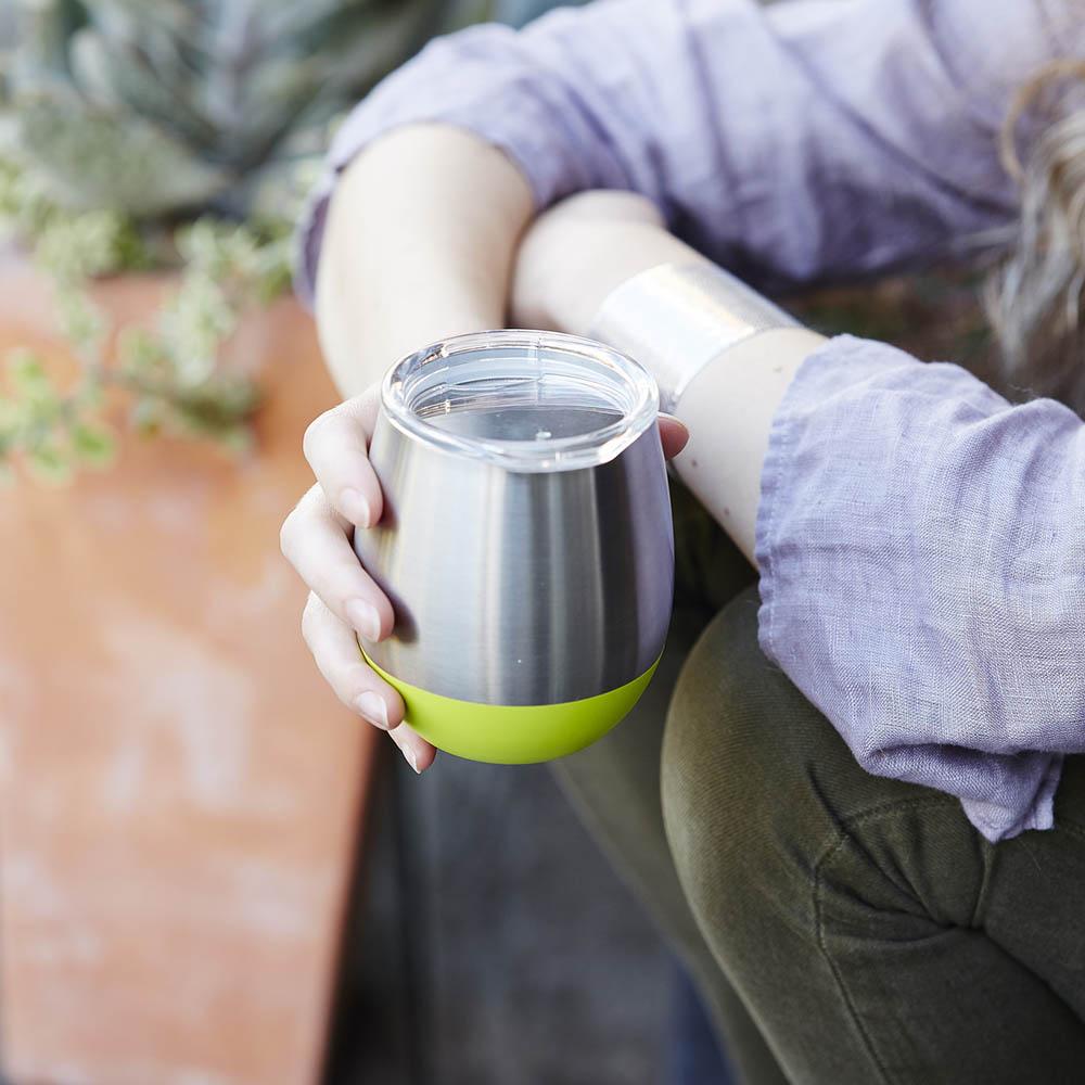 美國U Konserve 雙層保溫不鏽鋼杯 - 一抹天藍