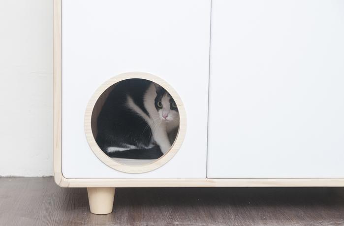 拍拍  原木貓砂櫃