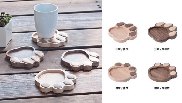 拍拍|原木腳掌造形杯墊
