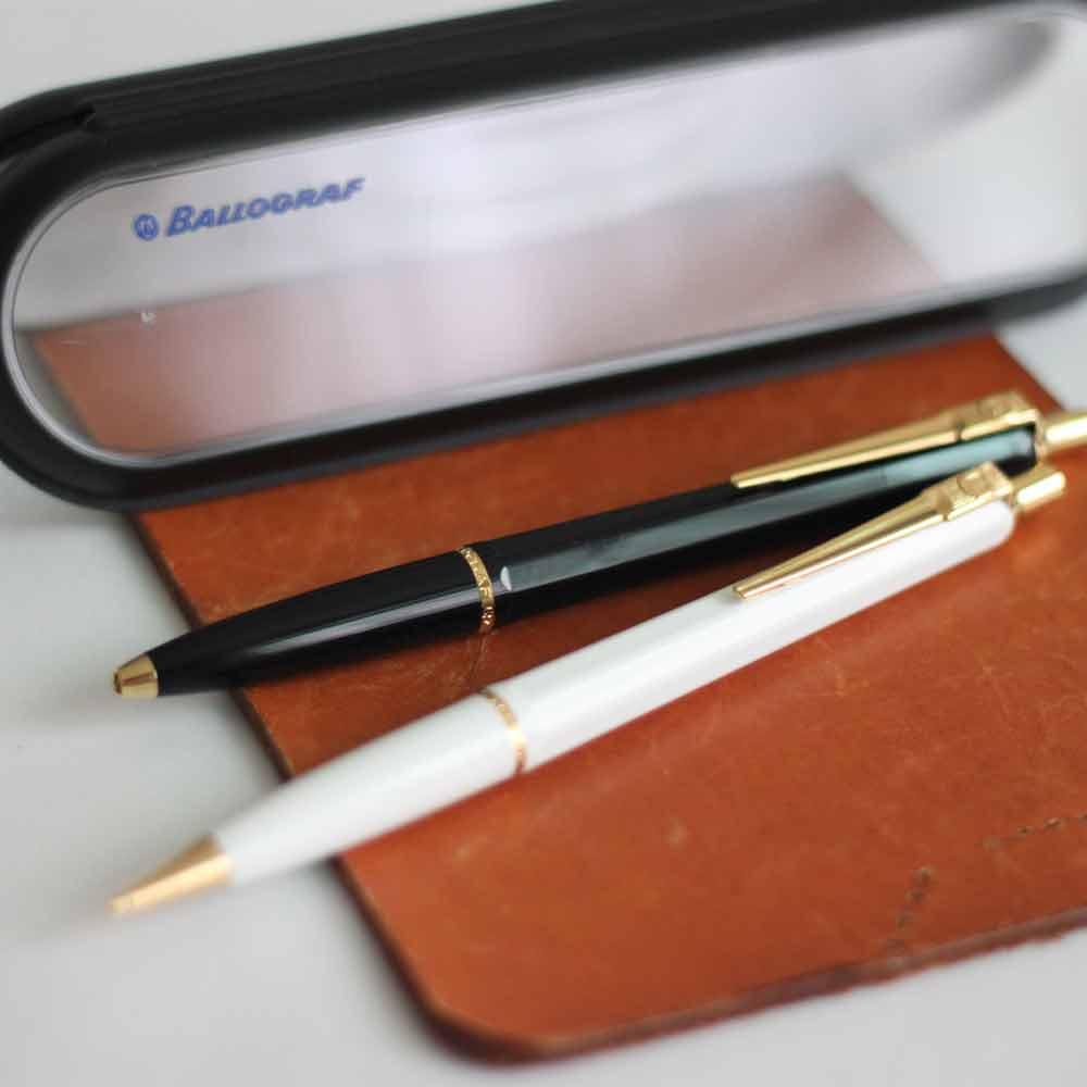 Ballograf 瑞典筆 Epoca P Luxe 對筆組 黑身原子筆 白身自動鉛筆