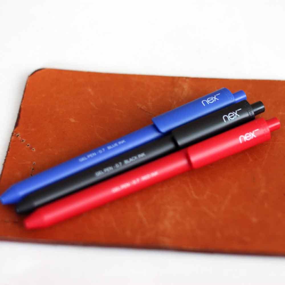 PREMEC|NEX GEL PEN 膠墨筆 藍黑紅 三入組