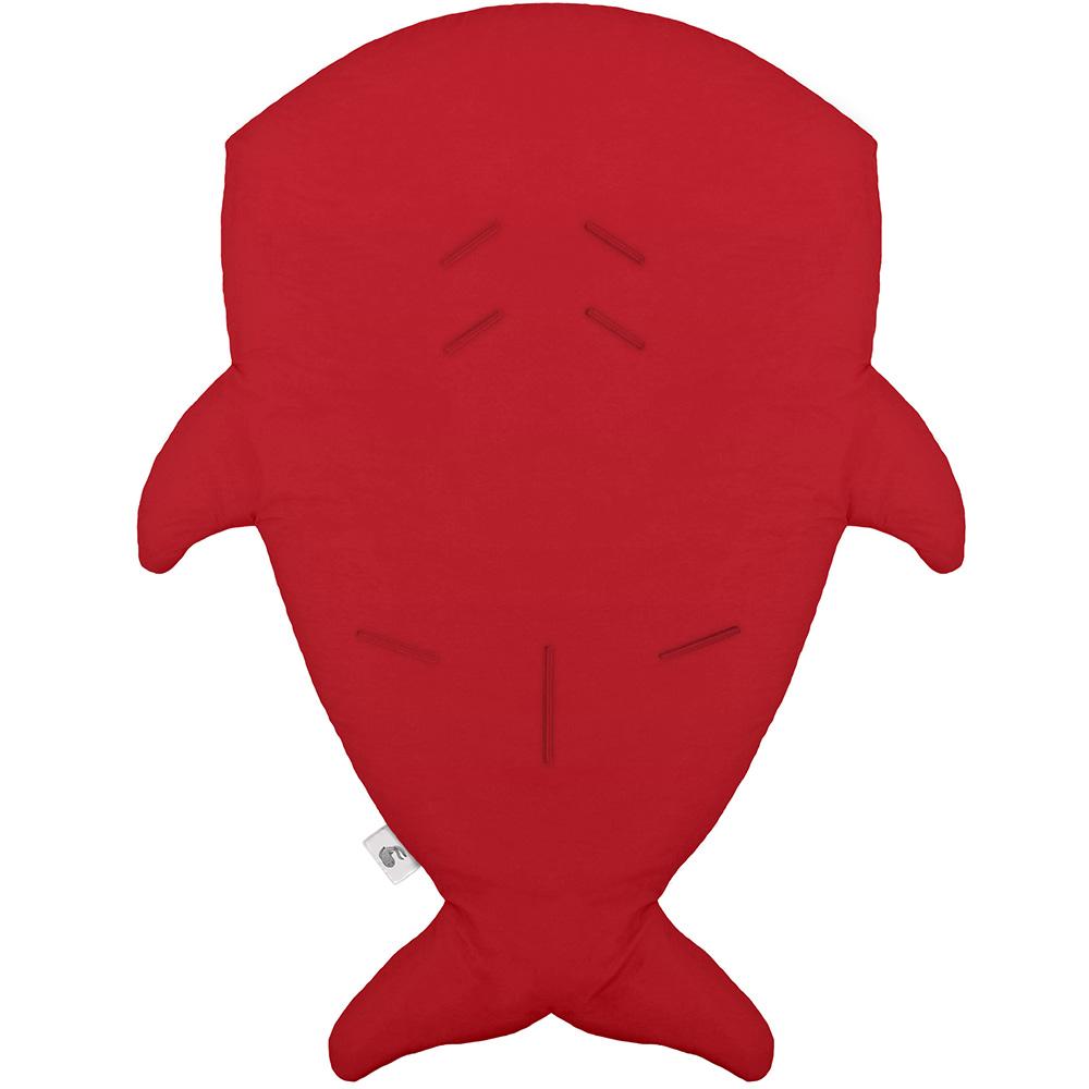 BabyBites|(輕量版)100%純棉手作嬰幼兒睡袋/防踢被/包巾-鯊魚咬一口/經典紅