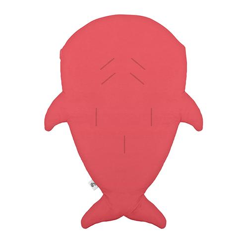 鯊魚咬一口 BabyBites|(輕量版)100%純棉手作嬰幼兒睡袋/防踢被/包巾-紅珊瑚