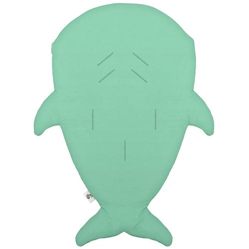 鯊魚咬一口 BabyBites|(輕量版)100%純棉手作嬰幼兒睡袋/防踢被/包巾-青草綠