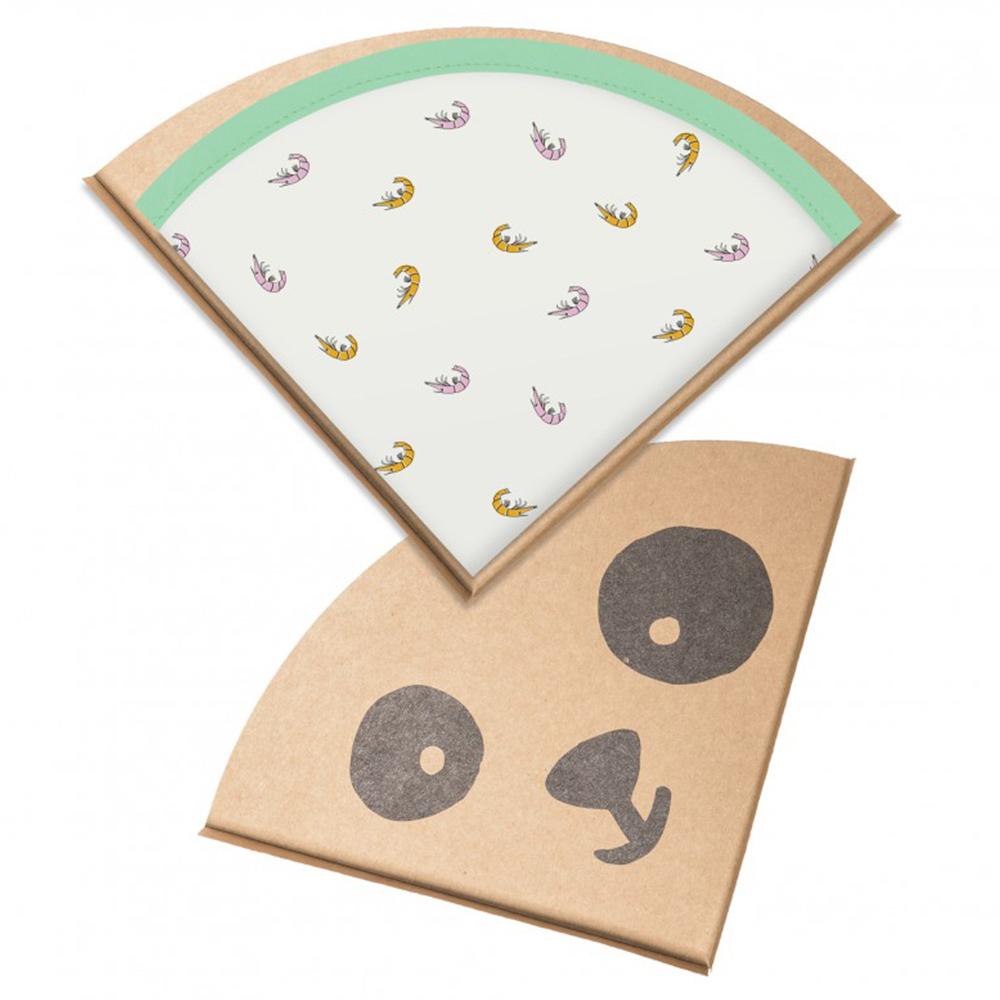 鯊魚咬一口 BabyBites|100% 親膚純棉、防潑水完整包覆寶寶口水巾|圍兜-游泳蝦米