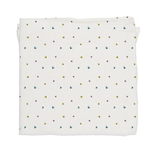 鯊魚咬一口 BabyBites 100% 純棉舒適透氣超萌圖騰包巾-彩色昆蟲