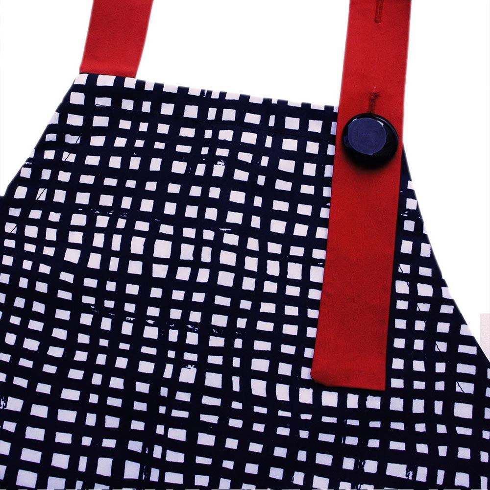 OGG|幾何趣拼色寶寶工作圍裙袖套組(拼拼格子)