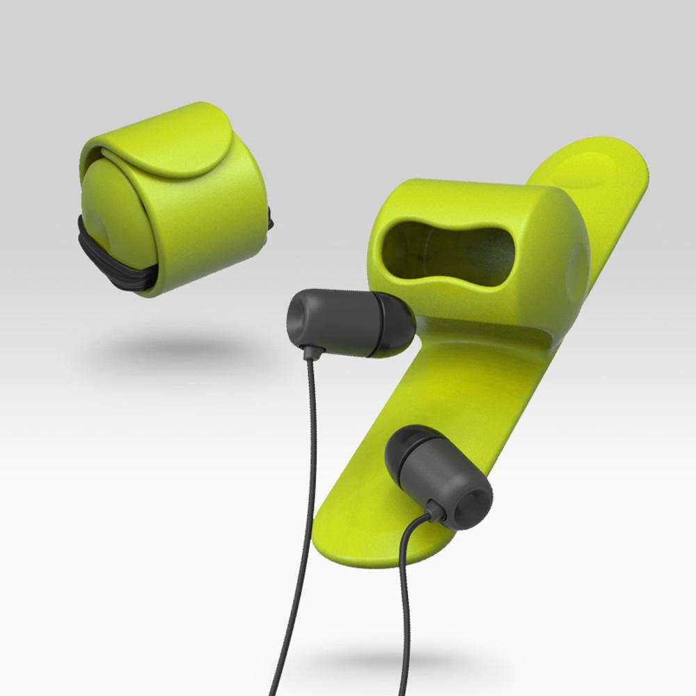 MOOY|Snappy 耳機捲線器(萊姆綠Green)