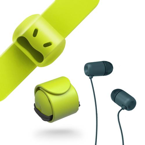 MOOY|Snappy WOW耳機捲線器(萊姆綠Green)
