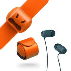 MOOY|Snappy WOW 耳機捲線器(蜜糖橘Orange)
