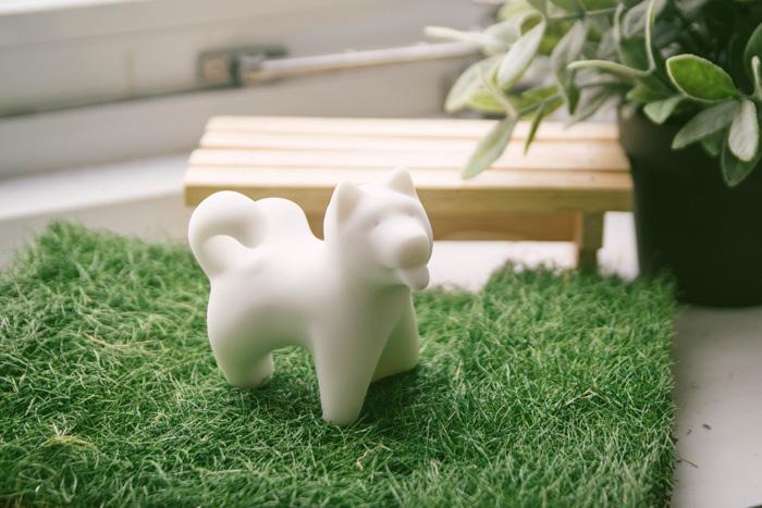 (複製)CHU,AN Design| 獨立鬆獅犬-狗狗造型石雕擺飾/紙鎮
