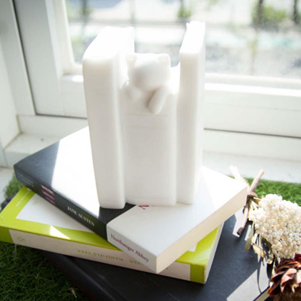 CHU,AN Design 智慧-貓咪造型立體石雕書擋