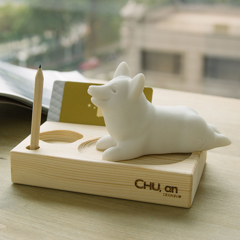 CHU,AN Design| 真誠柯基-狗狗造型石雕擺飾/紙鎮