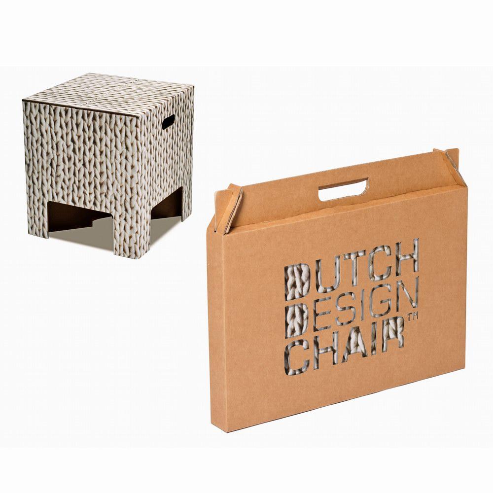 Dutch Design Chair|荷蘭紙板椅凳-羊毛線