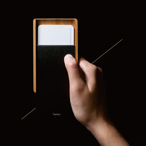 TreAsia︱SLIDE-Bamboo Card Case 燻竹名片盒(黑)