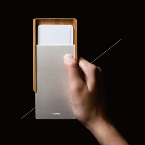 TreAsia, SLIDE-Bamboo Card Case 燻竹名片盒(鈦)