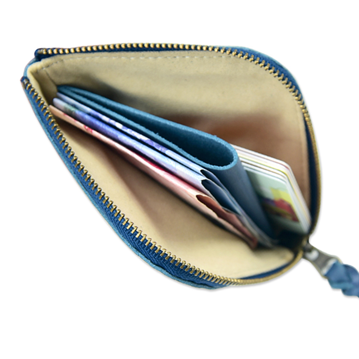 (複製)C′est Si Bon|進口真皮L型拉鍊零錢包/鈔票短夾-抹綠色