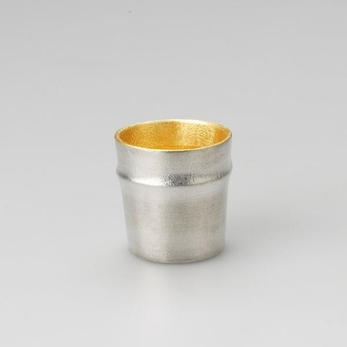 能作|純錫金箔竹筒杯