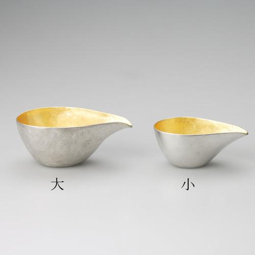 能作|純錫金箔片口盅(L)