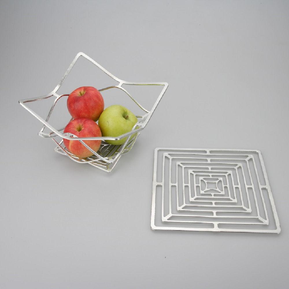 能作 純錫魔術置物籃(方形 L)