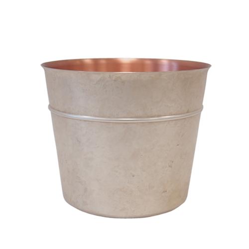 折井 Orii|tone銅彩置物筒-珍珠銀(M)