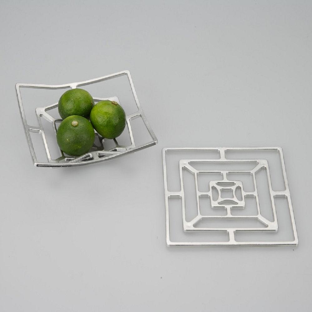 能作 純錫魔術置物籃(方形 S)