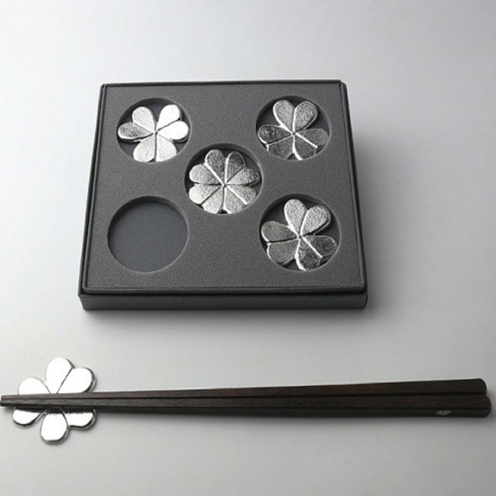 能作|酢漿草純錫筷架 (五入)