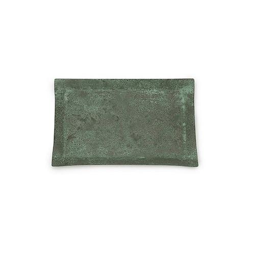 折井 Orii|tone四方銅彩盤-銅綠(S)