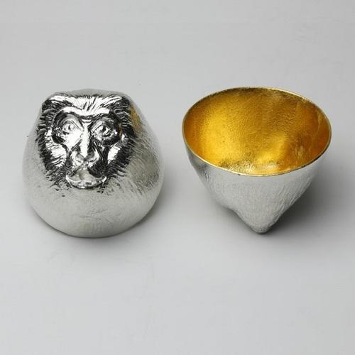 能作|金箔生肖造型杯(猴)