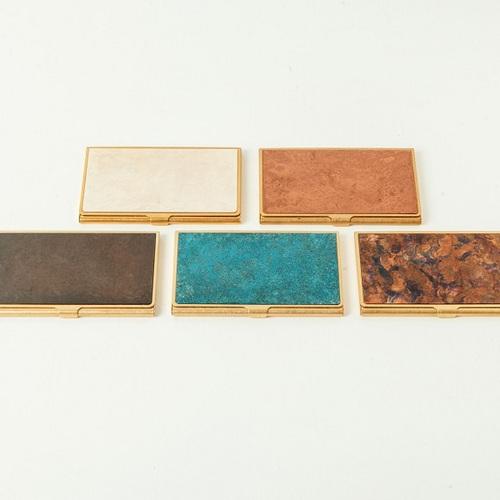 折井 Orii|銅彩名片盒-斑紋青銅色