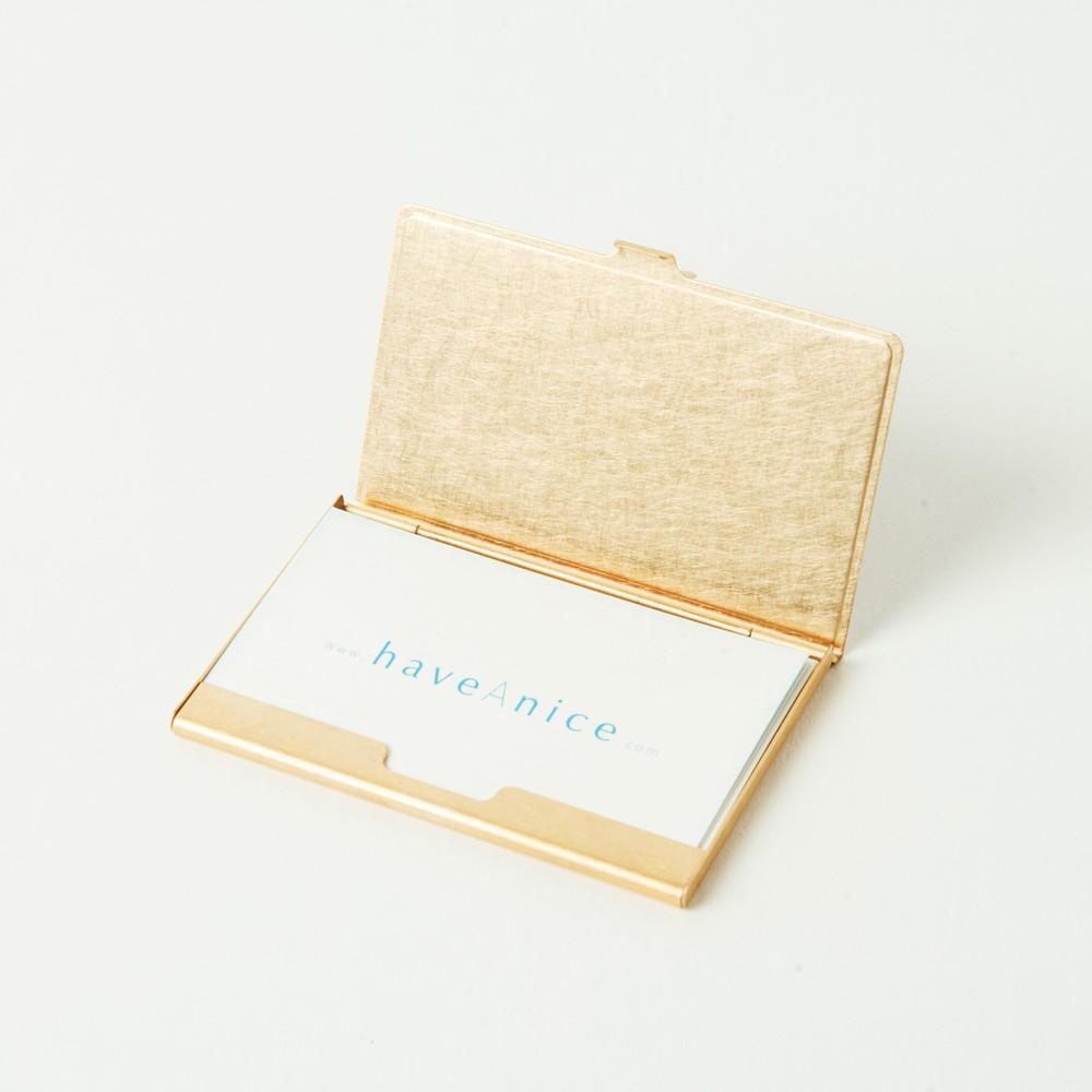 折井 Orii 銅彩名片盒-斑紋孔雀色
