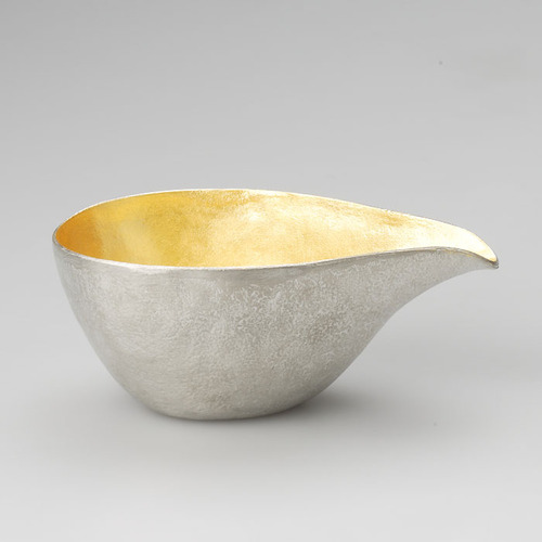能作|純錫金箔片口盅(L)+純錫/純錫金箔酒杯組