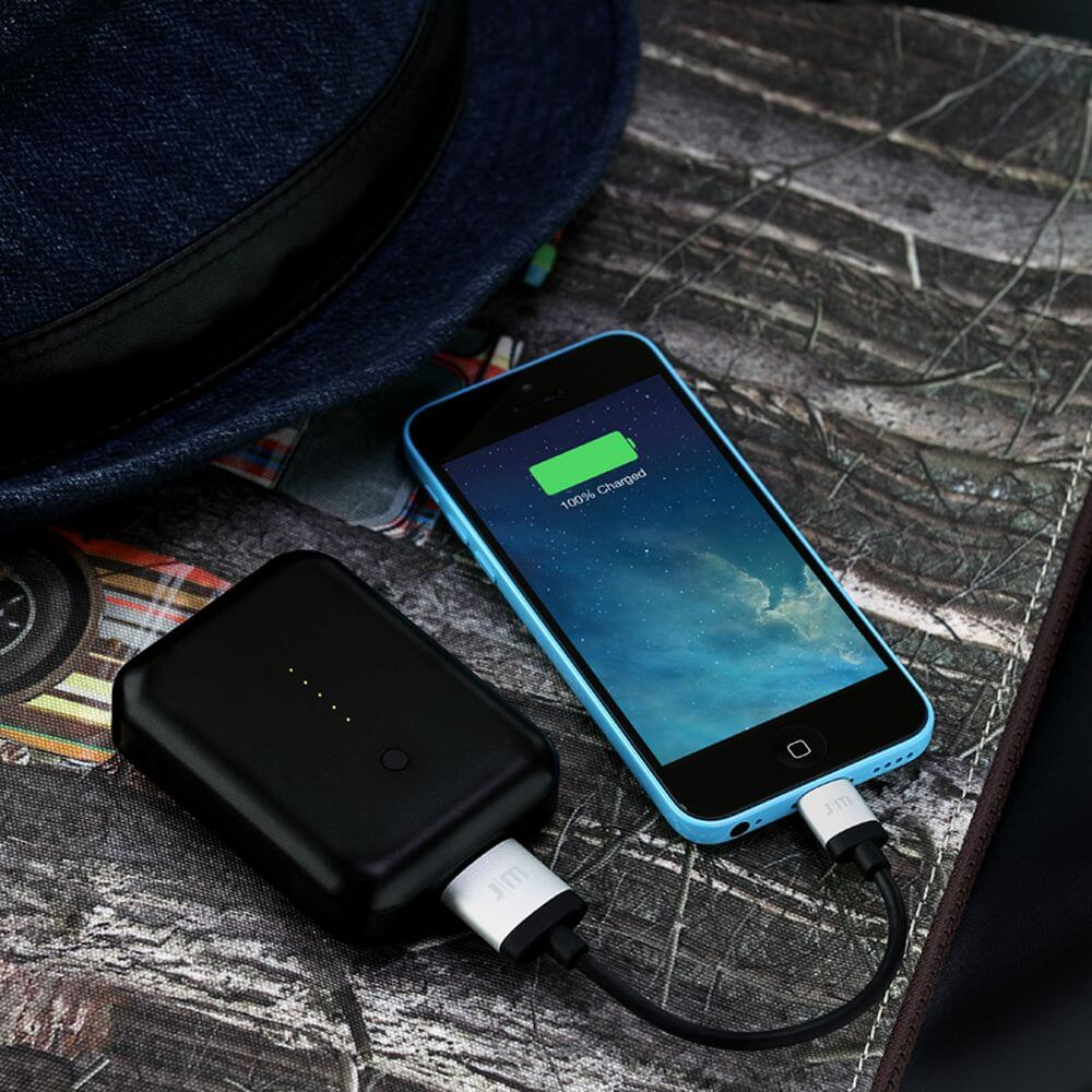 Just Mobile Gum++™ 高效能6000 mAh鋁質行動電源(黑色)PP-268ABK
