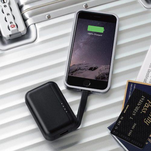 Just Mobile|TopGum™ 世界首款可座充鋁質行動電源(黑色)PP-600BK