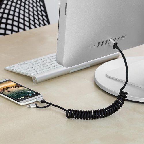 Just Mobile AluCable Duo™ Twist Lightning/Micro USB 鋁質雙用連接捲線 (1.8m)DC-189