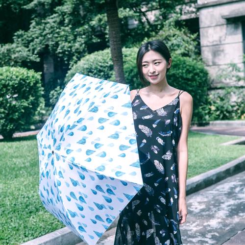 Carry|Moose超輕碳纖三折傘 - 迷幻水滴