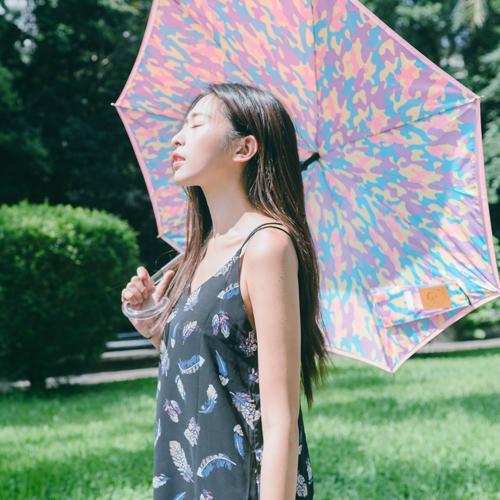 Carry|粉嫩迷彩反向傘 - 幸福調色盤
