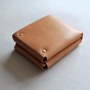 本相造物所   原創者系列 - 方塊厚短夾(棕)