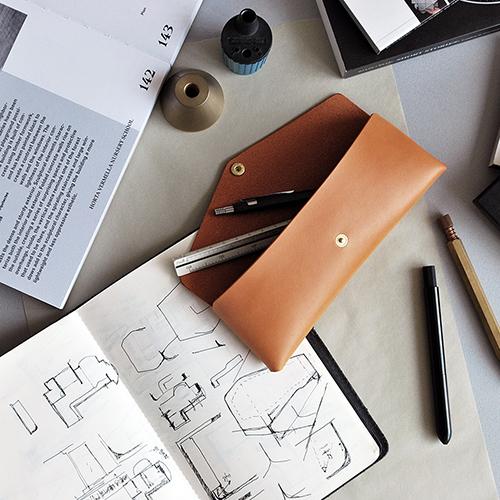 本相造物所 | 設計師系列 - 極簡小筆袋(棕)