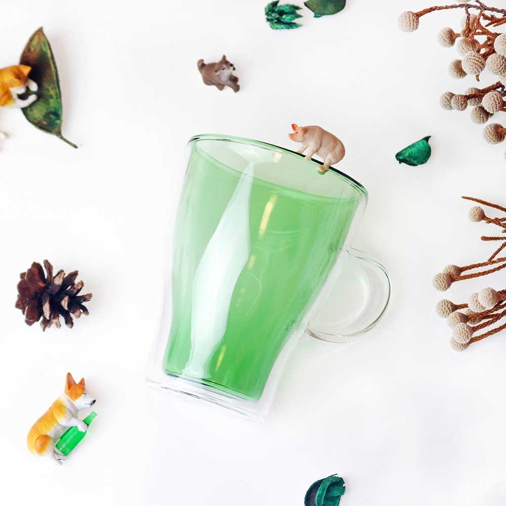 好玻 GOODGLAS|舞色雙層玻璃杯(綠色)