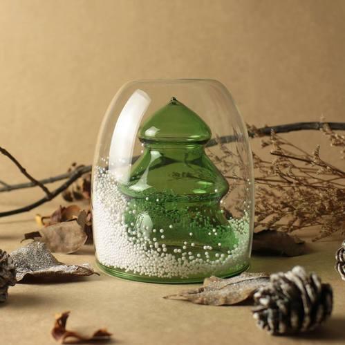 紅琉璃|聖誕系列-聖誕樹雙層杯