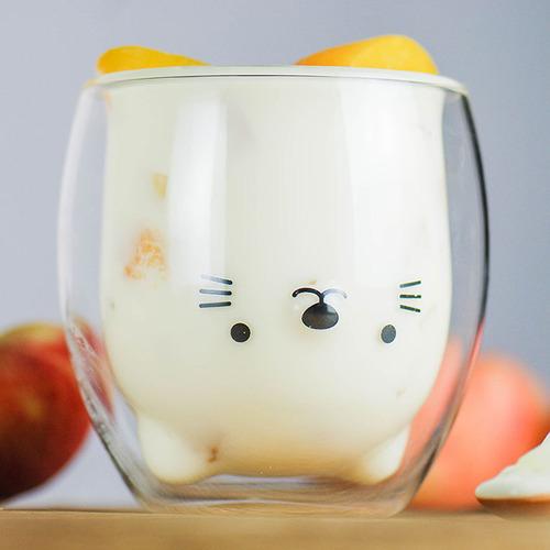 好玻 GOODGLAS|小貓雙層杯