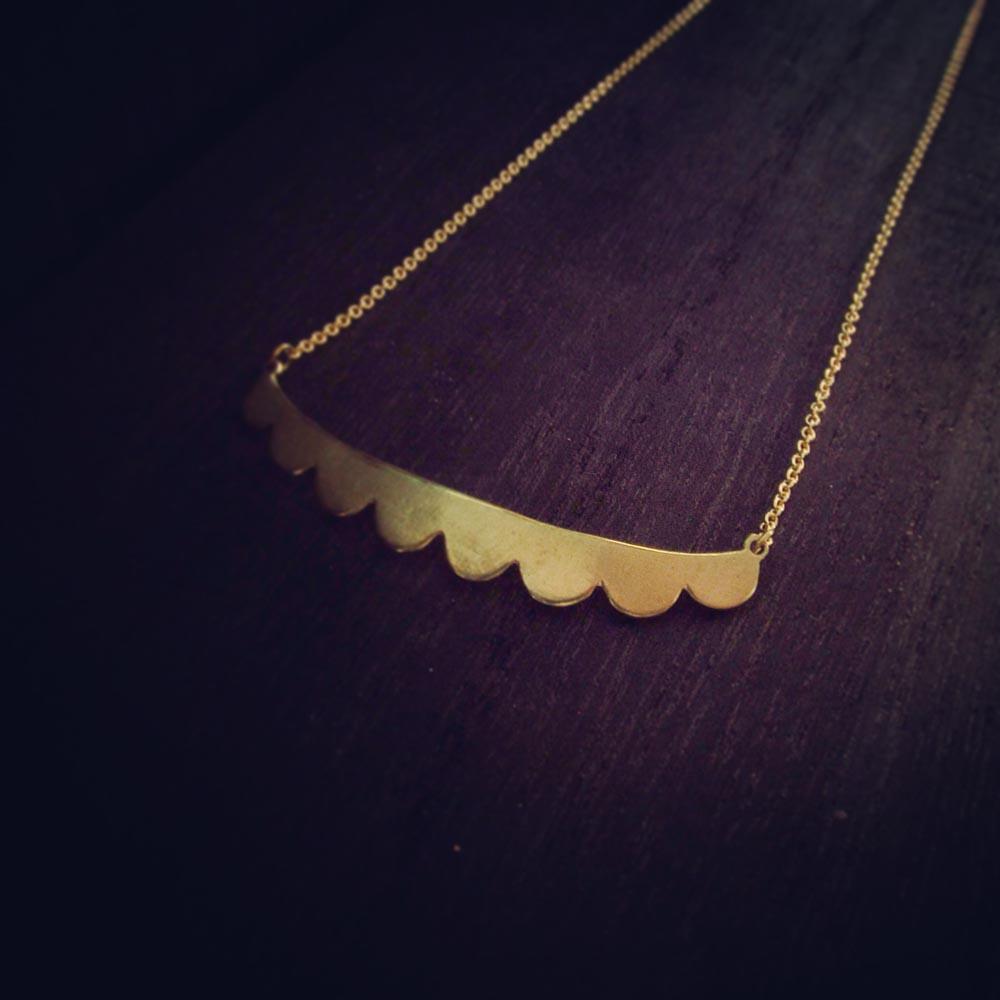 INTZUITION 以覺學|Misstache N.8 鬍子小姐 8 號 手工黃銅項鍊 Brass Necklace