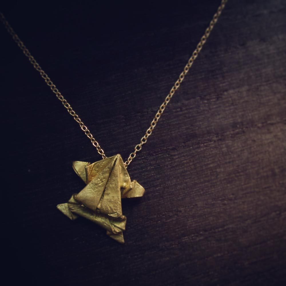 INTZUITION 以覺學|Ah! Origamini, 小飾摺哉 Brass 金工手工黃銅項鍊 Brass necklace