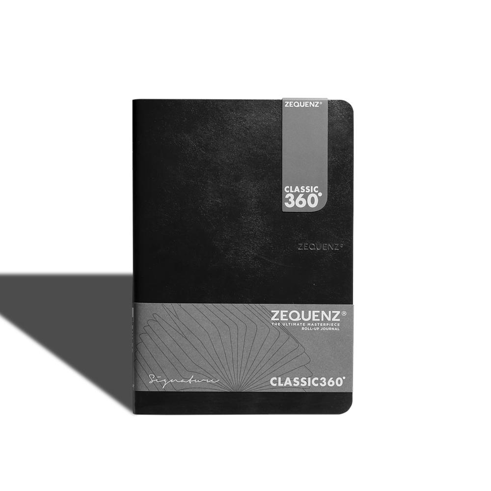 ZEQUENZ|360° 背靠背筆記本 (黑色/方眼內頁)