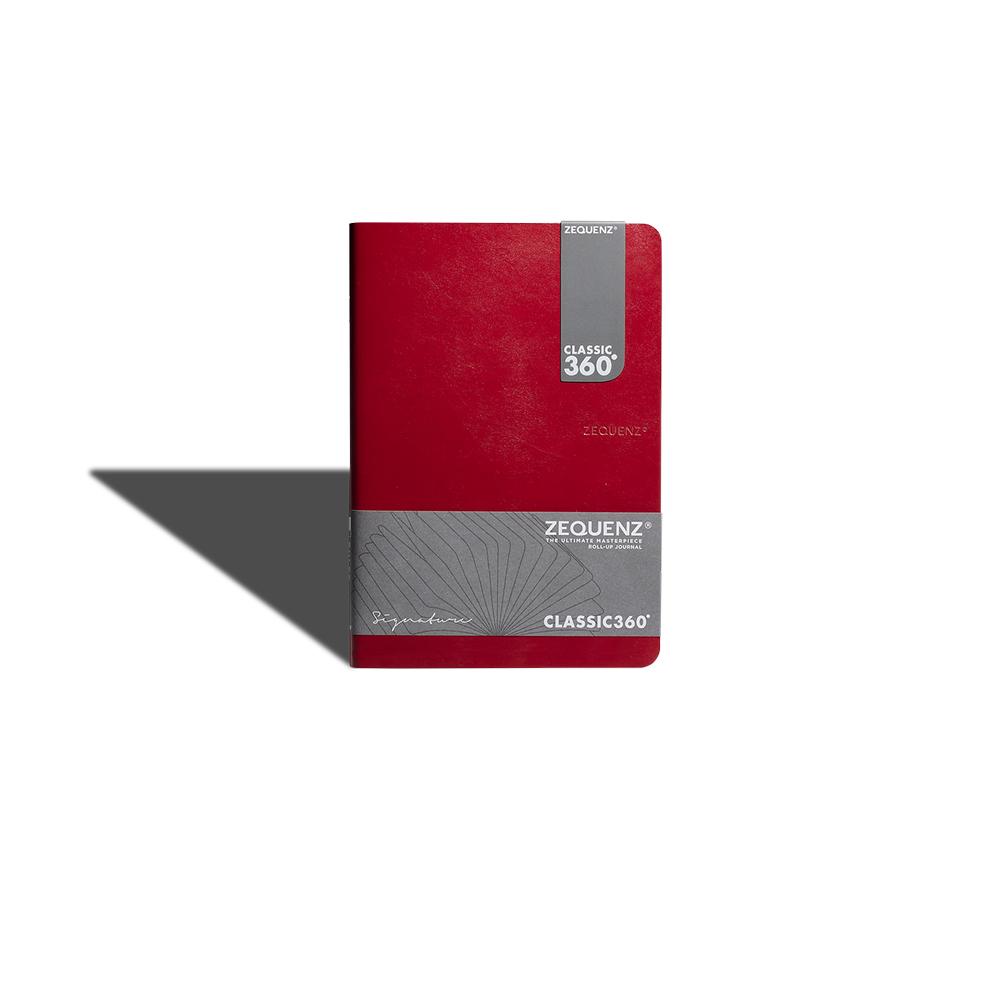ZEQUENZ|360° 背靠背筆記本 (紅色 /方眼內頁)