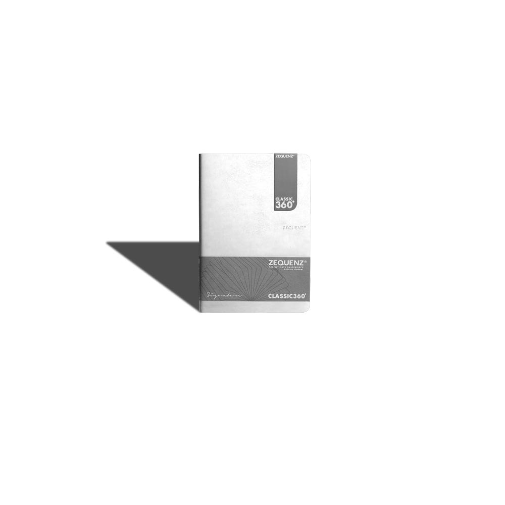 ZEQUENZ|360° 背靠背筆記本 (B6 (M) /白色 /方眼內頁)