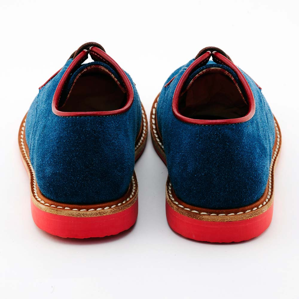 Beven Smiley|MIT全真皮兒童德比鞋-紳士款(藍色)