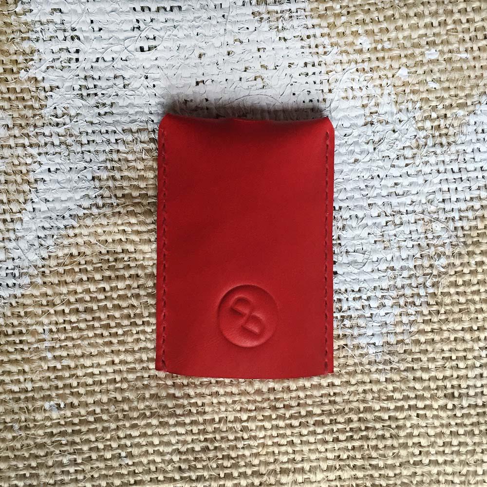 DUAL 頭層牛皮立體大容量鑰匙包 (氣質紅)