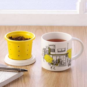 不二堂|T-MUG 永康茶所在馬克杯 (白瓷黃)